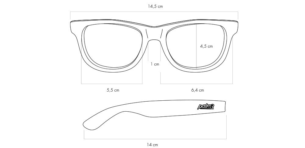 Detalhe dos Óculos de Sol Clássicos