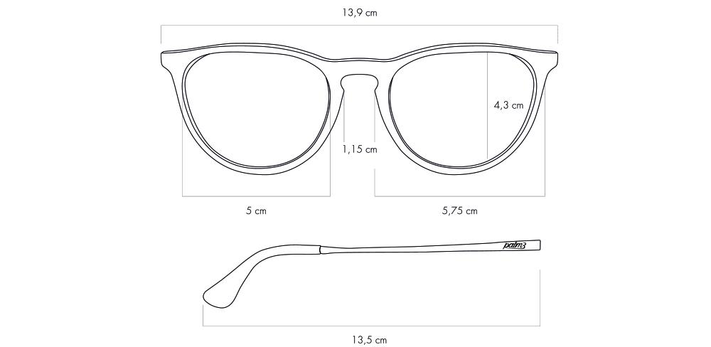 Detalhe dos Óculos de Sol Redondos