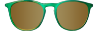 FRONT ARCTIC GREEN POLARIZED GOLD ROUND