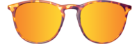 FRONT TORTOISE POLARIZED SUNSET ROUND